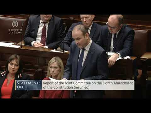 Micheal Martin speaks in favour of Repeal of 8th Amendment