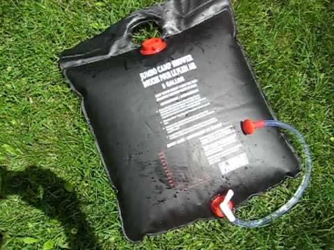 Solar Camp Shower Bag Demonstration Review