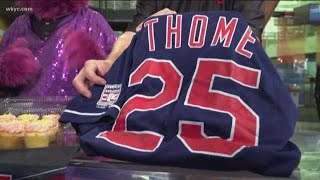 Cleveland Indians honoring Jim Thome and Slider with special celebrations