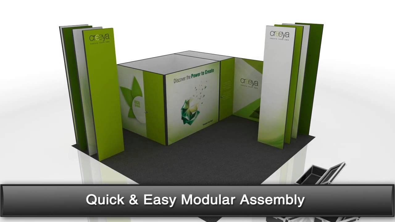 Custom Modular Exhibition Stands : In exhibition stand design ideas using creeya™ custom modular
