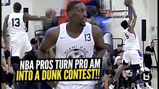 DON'T TEST NBA PLAYERS! Derrick Jones Jr & Bam Adebayo Put Down INSANE Dunks at Miami Pro League!!