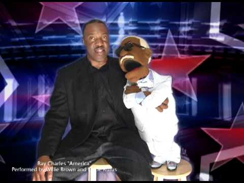 """Willie Brown and Uncle Rufus Doing Their Rendition of Ray Charles """"America"""""""
