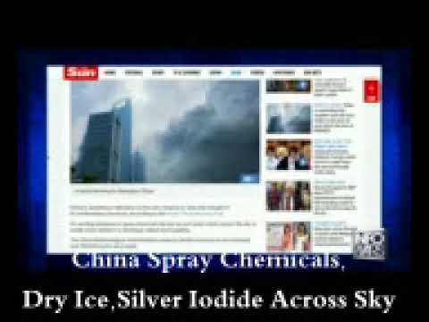 China Spray Chemicals, Dry Ice,Silver Iodide Across Sky