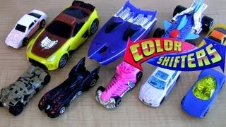 10 color changers cars colour shifters Hot Wheels Water toys how-to carstoys review Blucollection