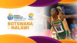Botswana v Malawi | Africa Netball World Cup Qualifiers | Day 3