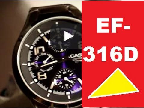 Обзор и настройка Casio Edifice EF - 316D