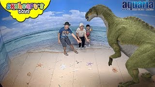 Meeting DINOSAURS for the first time | Skyheart's toys dinosaurs for kids toys