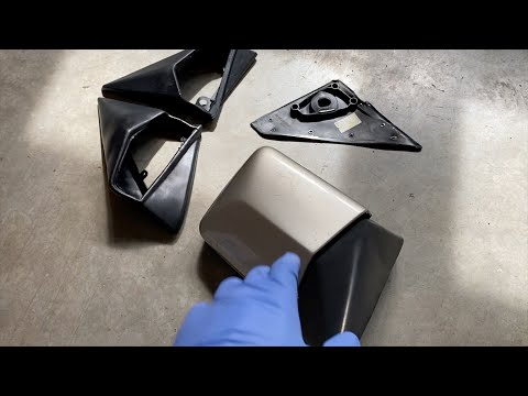 Mercedes-Benz W124 How To Install Mirror Rubber Seals (Step by step)
