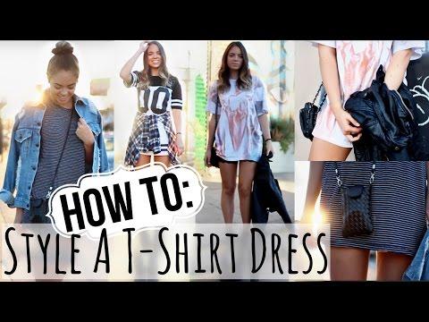 Tee shirt dress long