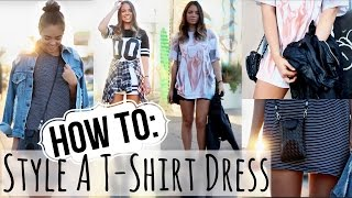 FALL LOOKBOOK: How to Style A T-Shirt Dress! Thumbnail
