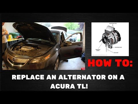 HOW TO REPLACE AN ALTERNATOR ON A 2011 ACURA TL!