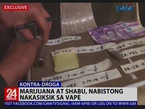 24 Oras: Marijuana at shabu, nabistong nakasiksik sa vape