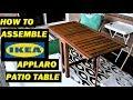 How to assemble IKEA Applaro patio table