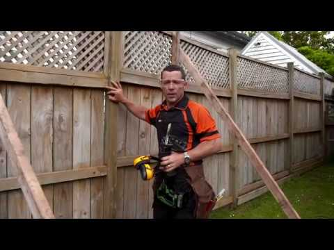 How To Repair A Leaning Fence Mitre 10 Easy As Youtube
