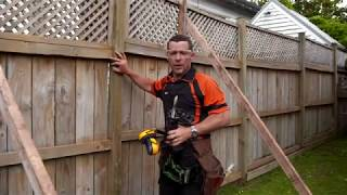 How to repair a leaning fence | Mitre 10 Easy As