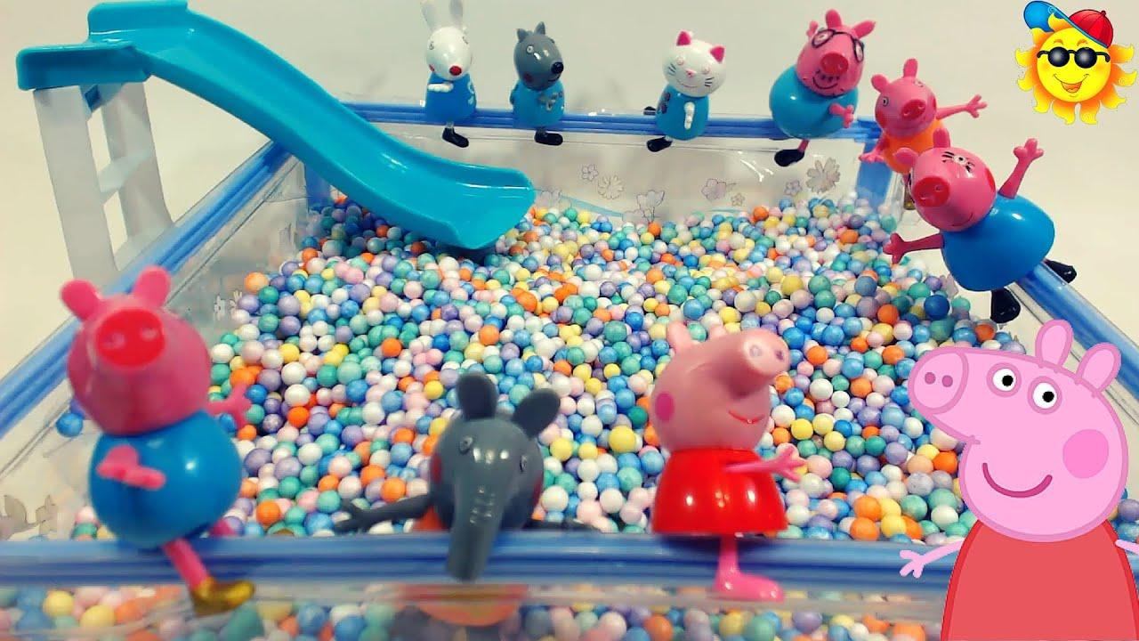 Peppa pig y sus amigos en la piscina de pelotas youtube for Piscina de peppa pig