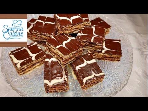 patisserie marbrée au chocolat - حلوة الطبقات بالشوكولا ( على طريقة الميل فاي ) رائع المذاق