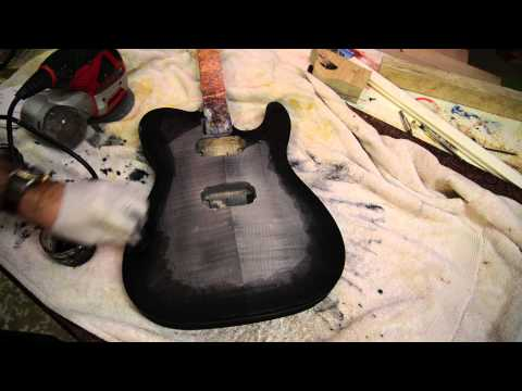 How Not To Black Burst A Flame Maple Guitar With Transtints