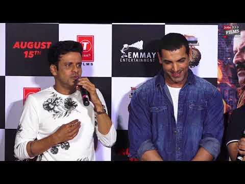 SATYAMEV JAYATE Trailer Launch with John Abraham and Manoj Bajpayee| #Bollywoodhappening | Joinfilms