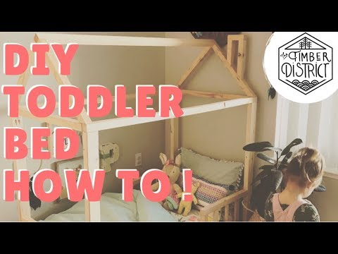 BUILD THIS !! Easy and Affordable Diy toddler bed