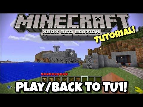 How To Play/Go Back To TU1! - Minecraft Xbox 360 - Tutorial
