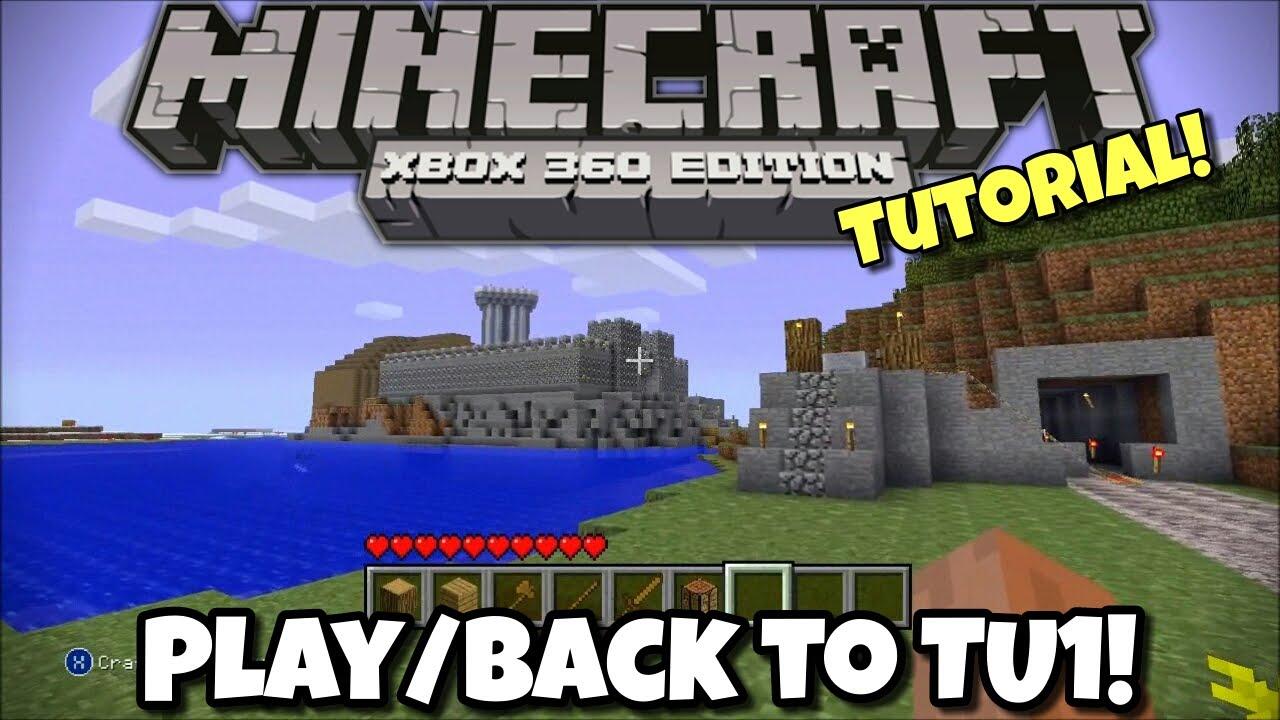 minecraft xbox 360 original tutorial world