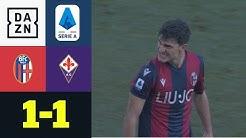 90+4! Orsolini per direktem Freistoß zum Ausgleich: FC Bologna - AC Florenz 1:1 | Serie A | DAZN