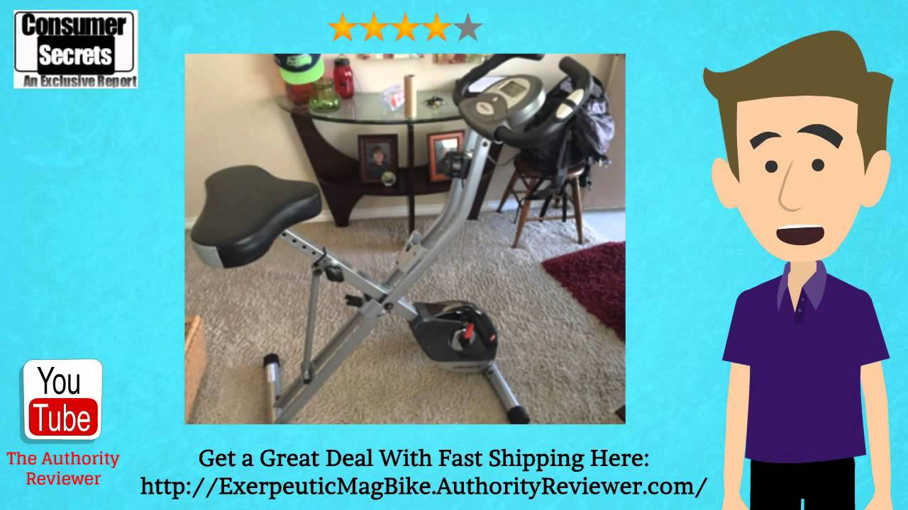 Thumbnail for Review Of The Exerpeutic Folding Magnetic Upright Bike with Pulse