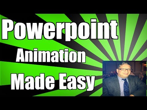 Intro to PowerPoint animation in PowerPoint 2013 2016 tutorial - Making the Cow Jump over the Moon