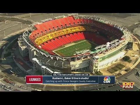PG County Executive Rashern Baker Speaks on the Redskins Stadium