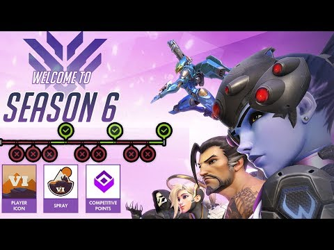 OVERWATCH SEASON 6 COMPETITIVE FINAL PLACEMENTS! (diamond?)