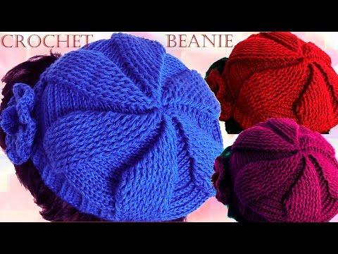 Como tejer gorro boina a Crochet o Ganchillo en todas las tallas