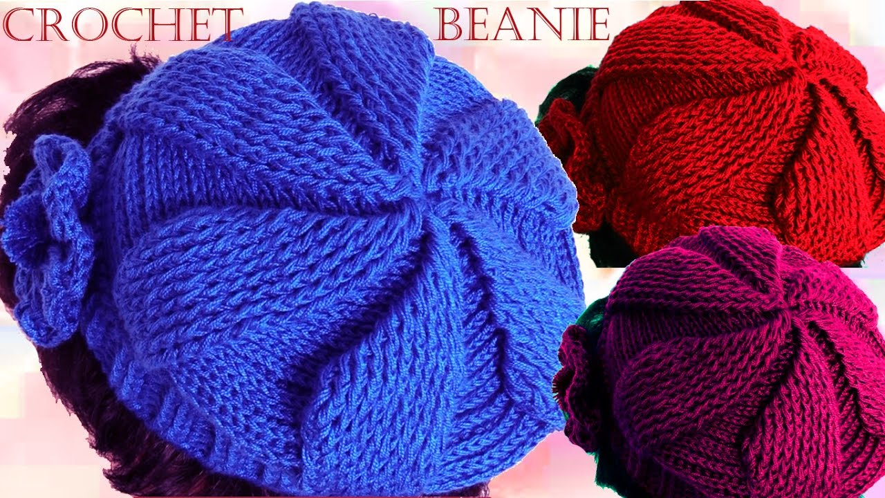 Como tejer gorro boina a Crochet o Ganchillo en todas las tallas - YouTube 88593127047