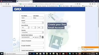 how to create unlimited gmx mail account