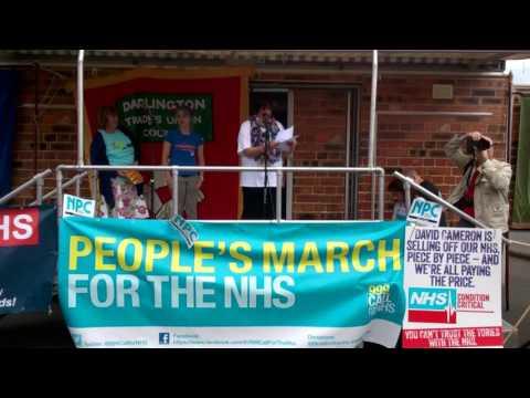 Speaker at #march4nhs Jarrow 16/08/2014 6 #stynegr