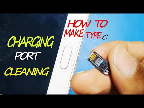 How To Make A Type C Mobile Charging Port Cleaning | By 1 Trick