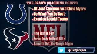 Football Gameplan's 2014 NFL Week 6 Preview - Colts vs Texans