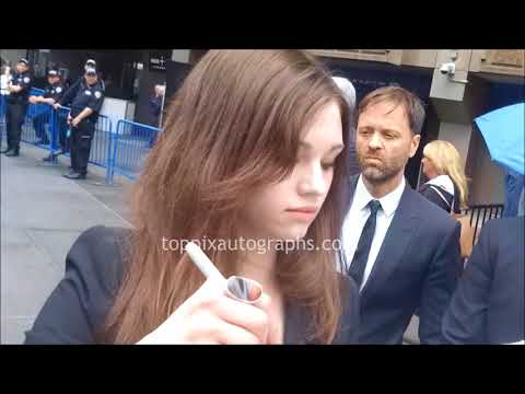 India Eisley signs autographs for TopPix