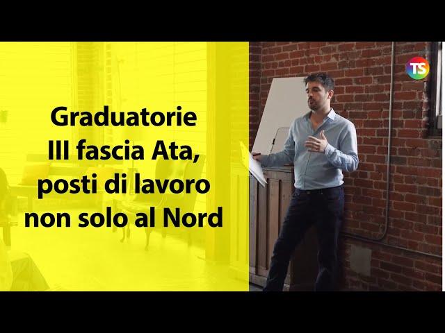 Graduatorie III fascia Ata,  posti di lavoro non solo al Nord