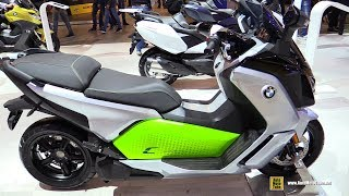 2018 BMW C-Evolution Electric Scooter - Walkaround - 2017 EICMA Milan Motorcycle Exhibition