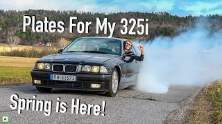 E36 325i Back on the Road! First Drive!