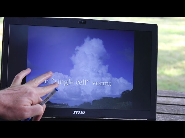 Hoe ontstaat een grote buienwolk of cumulonimbus