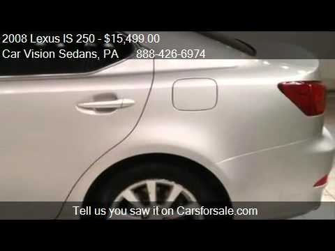 2008 lexus is 250 4dr sport sdn auto awd leather moonroof al youtube. Black Bedroom Furniture Sets. Home Design Ideas