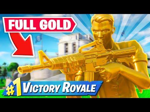 FULL GOLD SKIN IN FORTNITE!
