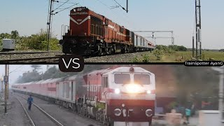 Red ALCo vs Red EMD : Combo with Red LHB   Indian Railways