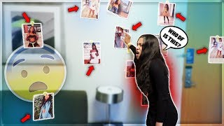 "I PUT UP PICTURES OF MY ""EX"" PRANK ON GIRLFRIEND (SHE WENT CRAZY)"
