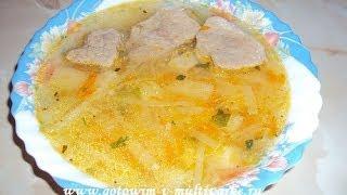Суп с капустой и мясом в мультиварке Panasonic TMH10
