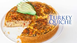 Left-Over Turkey and Cheddar Quiche