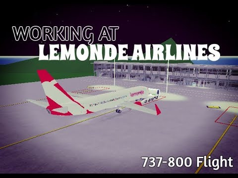 Working at LeMonde Airlines | ROBLOX 737-800 Flight