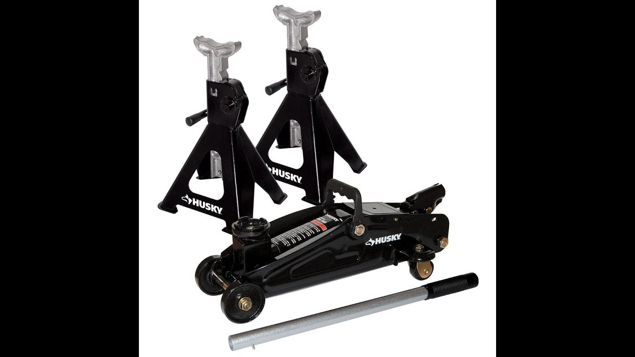 Husky 2 Ton Floor Trolley Jack Kit With 2x 2 Ton Jack Stands Hd00106